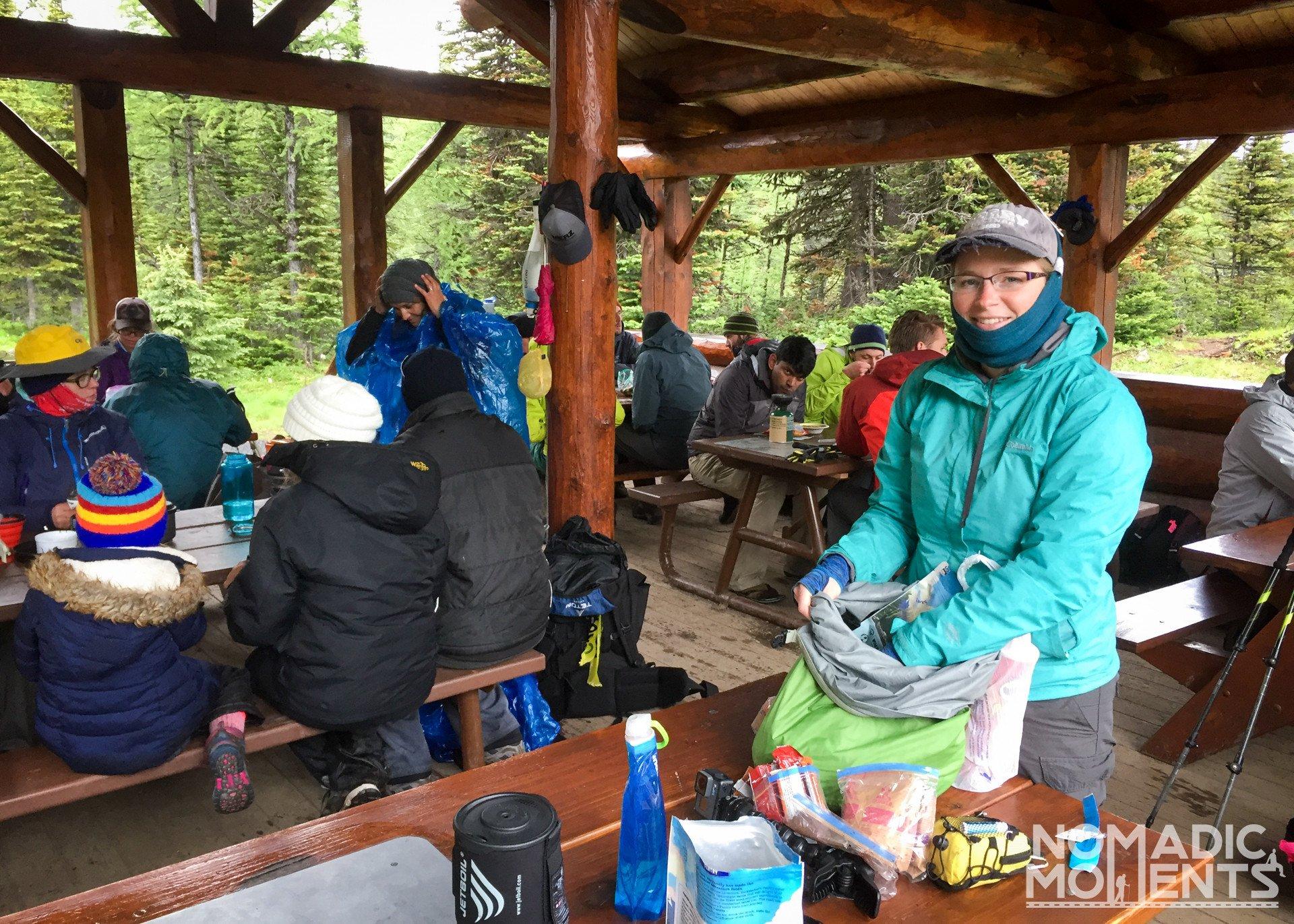 Magog Lake Campground Shelter