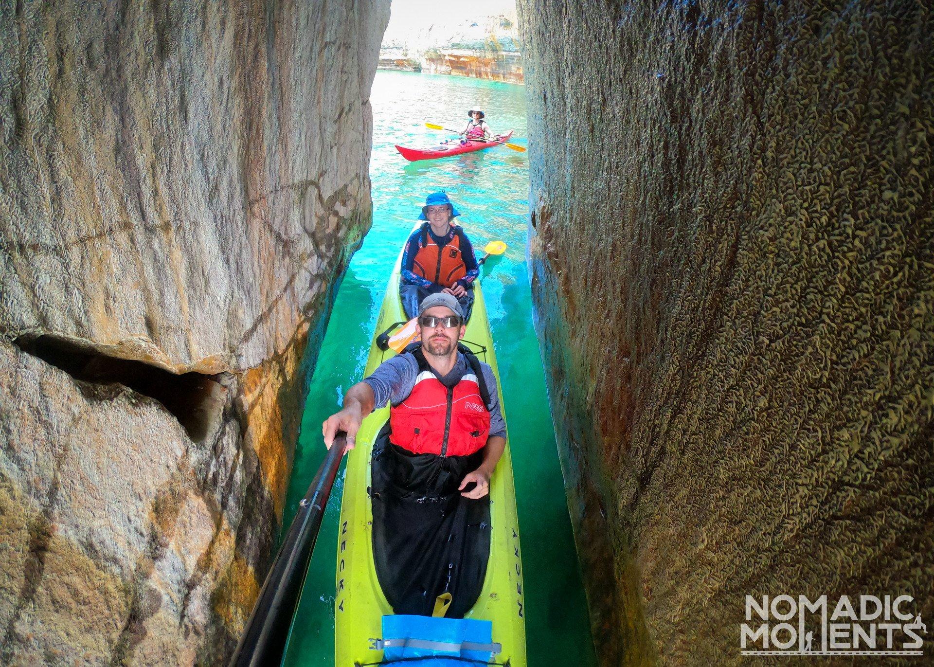 Kayaking Kissing Rock