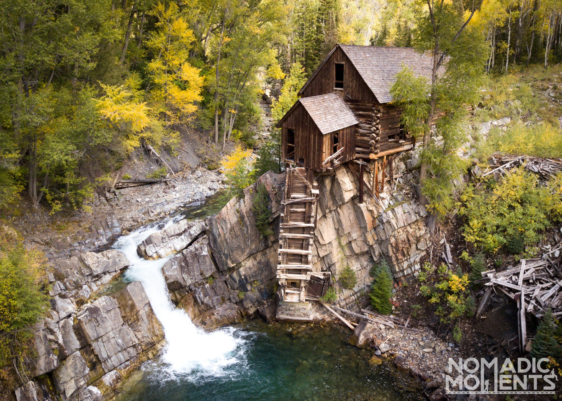 Crystal Mill Drone Shot