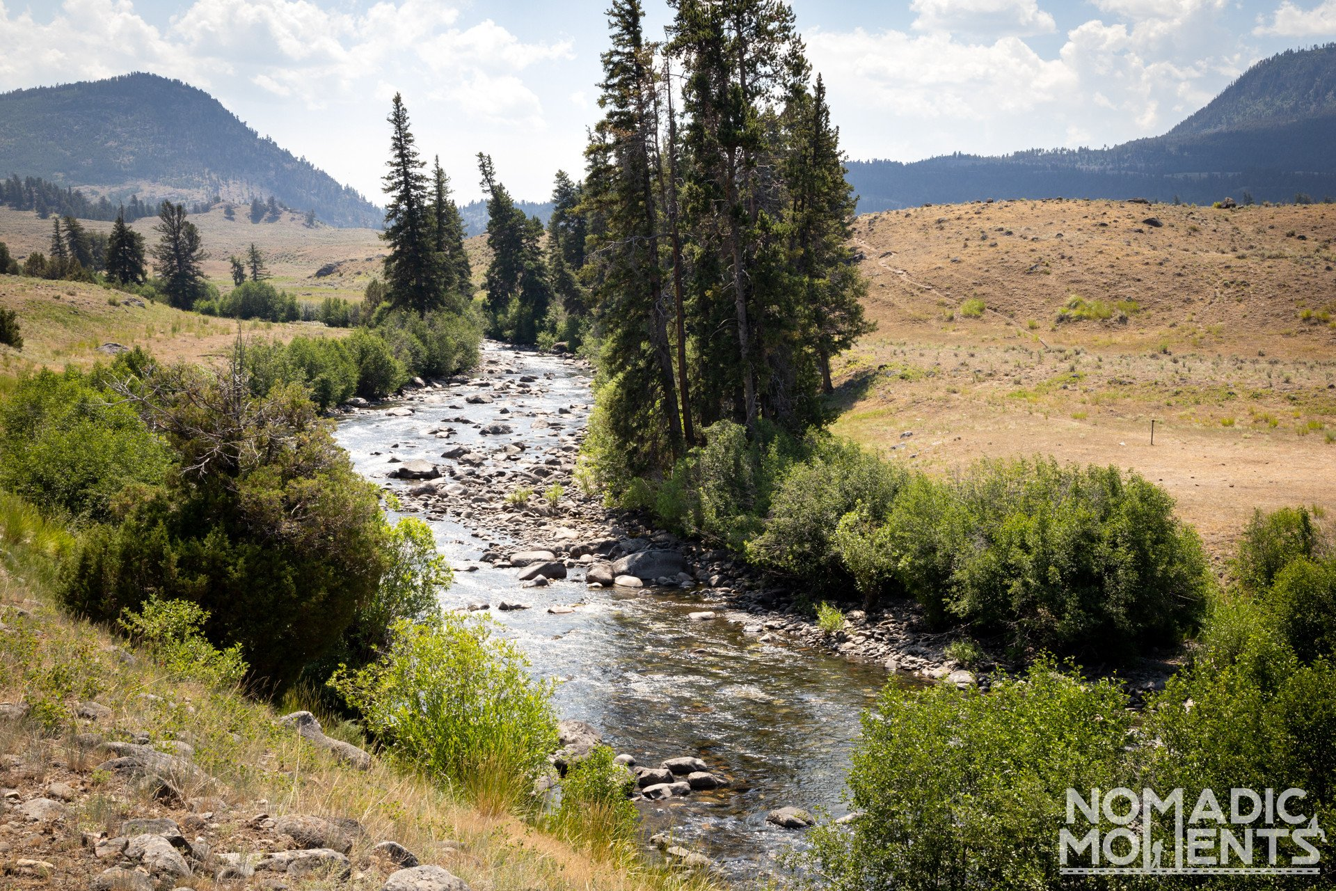 Hellroaring Creek on Black Canyon of the Yellowstone Trail