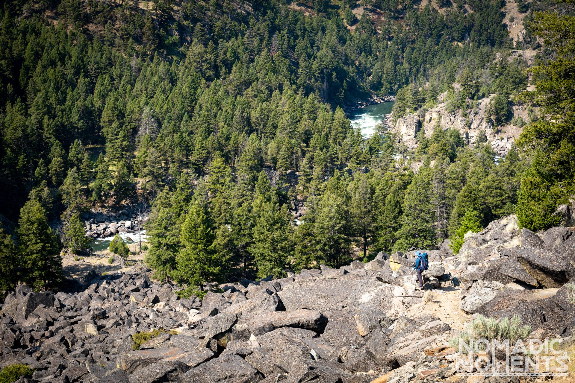 Hiking the Black Canyon of the Yellowstone River Trail