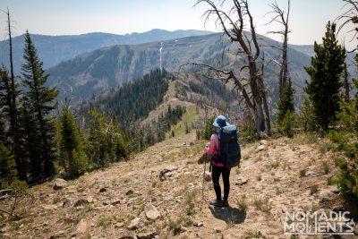 Second Major Descent Hiking the Sky Rim Trail