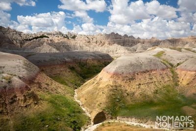 Yellow Mounds in the Badlands