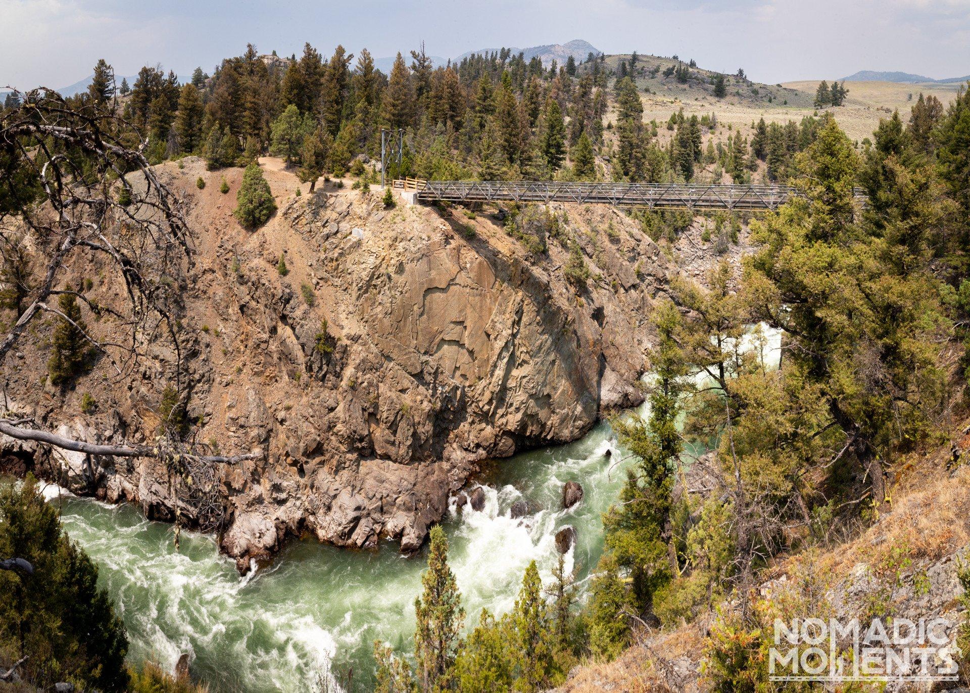 Yellowstone River Swinging Bridge